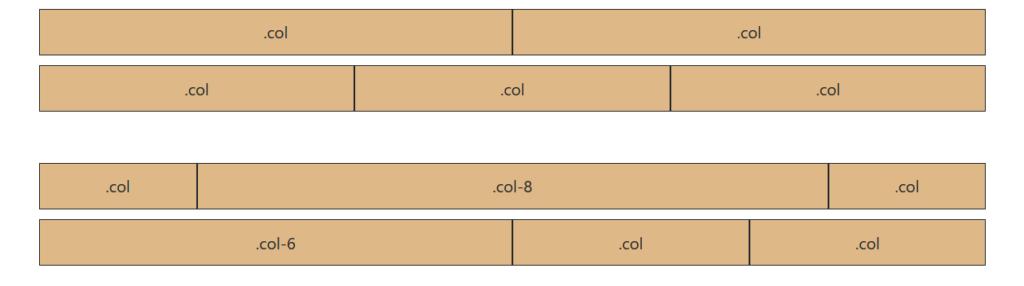 Columnas flexibles Bootstrap 4