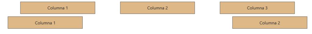 Distribución horizontal de columnas Bootstrap 4