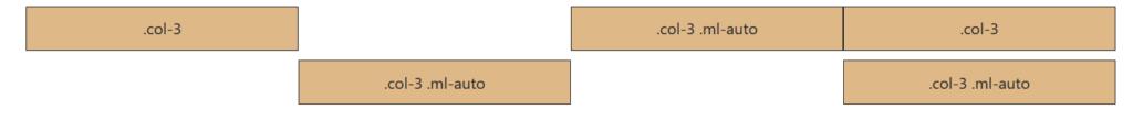 Columnas offset Bootstrap4