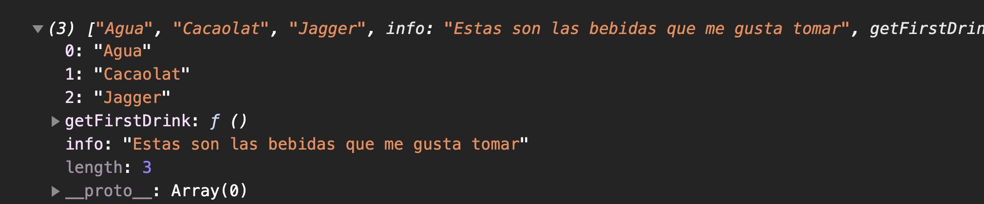 Prototipo de un objeto array en Javascript