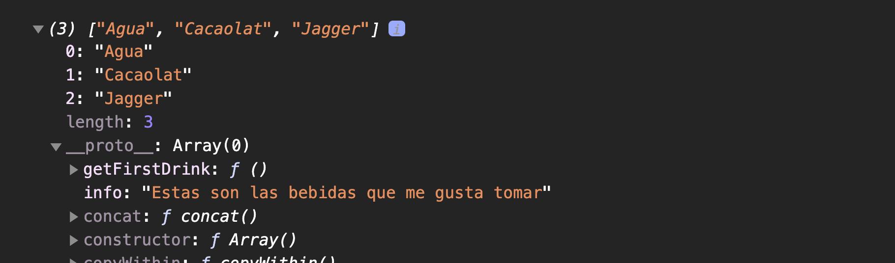 Prototype javascript de un objeto array en Javascript
